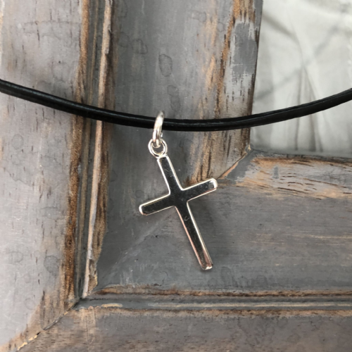 Boy's  jewellery gift necklace with silver cross